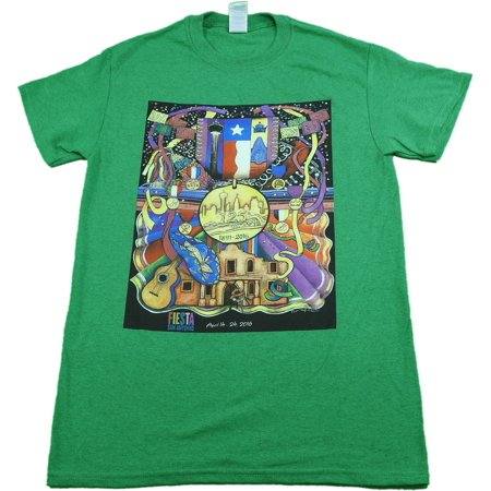 - Gildan Men's Size Small Lone Star Special Tee, The Fiesta Store - Green