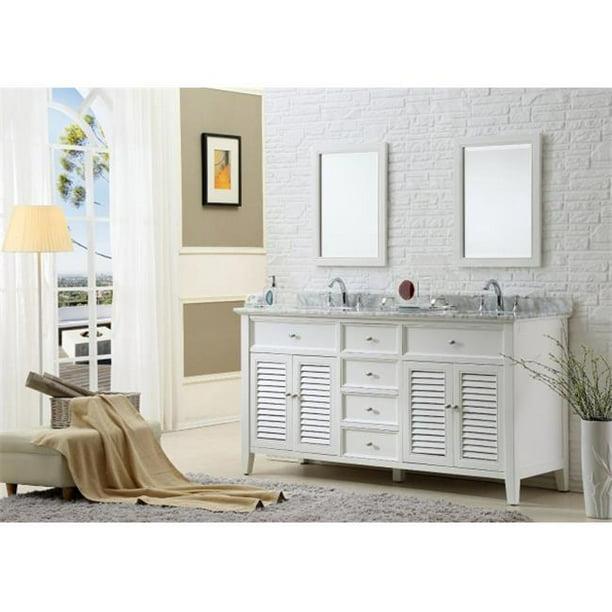 Carrara White Marble, 70 Bathroom Vanity