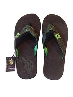 46f888f27ad05 Product Image Men s Premium Golfers Green Leatherette Flip-Flop Sandal  Thong (Medium ...