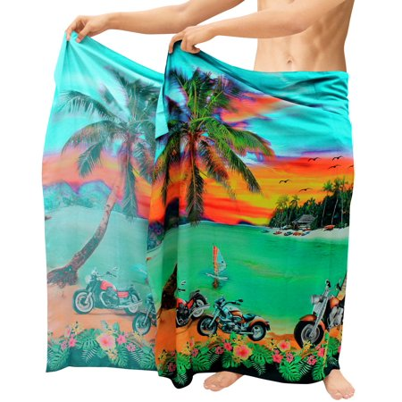 Beach Wear Mens Cover ups Bathing Suit Digital Wrap Swimming Sarong Pareo Bath