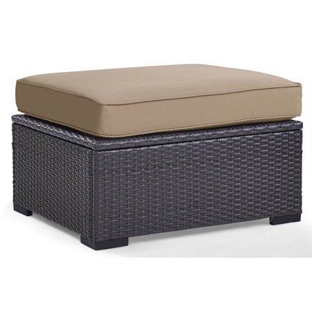 Crosley Furniture Biscayne Ottoman With Mocha Cushions ()