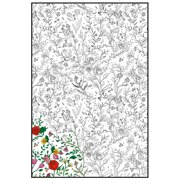 "Joy Of Coloring Adult Coloring Poster 24""X36"" 1/Pkg-Enchanted Garden"
