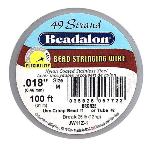 Beadalon Wire Standard Bronze 49 Strand .018 Inch / 100 Feet