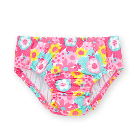 Healthtex Baby Girl Reuseable Swim Diaper, Pink Passion, 12-18 Months