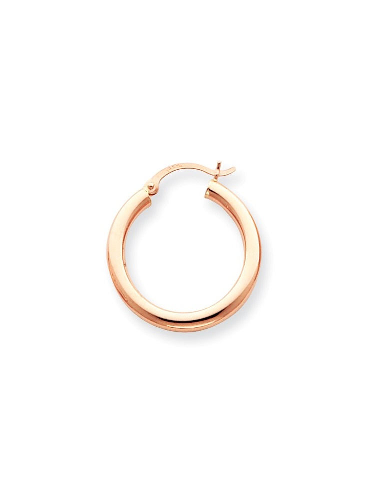 ICE CARATS 14kt Rose Gold 3mm Hoop Earrings Ear Hoops Set Round Classic Fine Jewelry Ideal Gifts For Women Gift Set From... by IceCarats Designer Jewelry Gift USA
