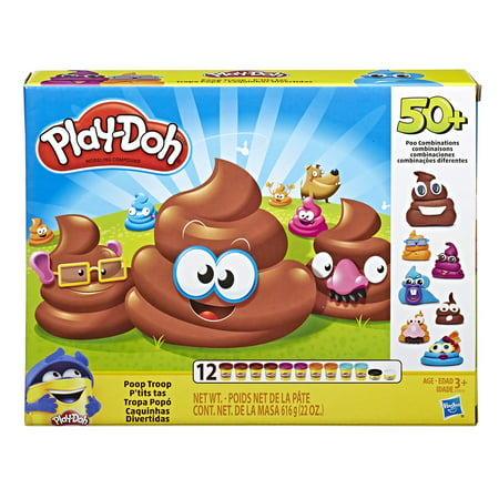 Play Doh Clay (Play-Doh Poop Troop Set with 12 Cans Play-Doh, Ages 3 and up )