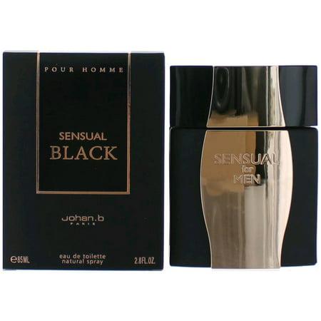 Sensual Black Cologne by Johan.b, 2.8 oz EDT Spray for Men Black Cologne Edt Spray