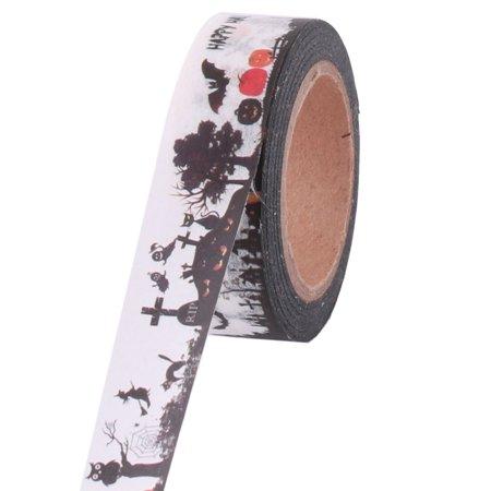Office Washi Paper Castle Pattern Box Cardboard Label Tape Roll 10M Length 2pcs - image 3 de 4