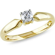 1/3 Carat T.W. Round Diamond Solitaire Ring in 10kt Yellow Gold