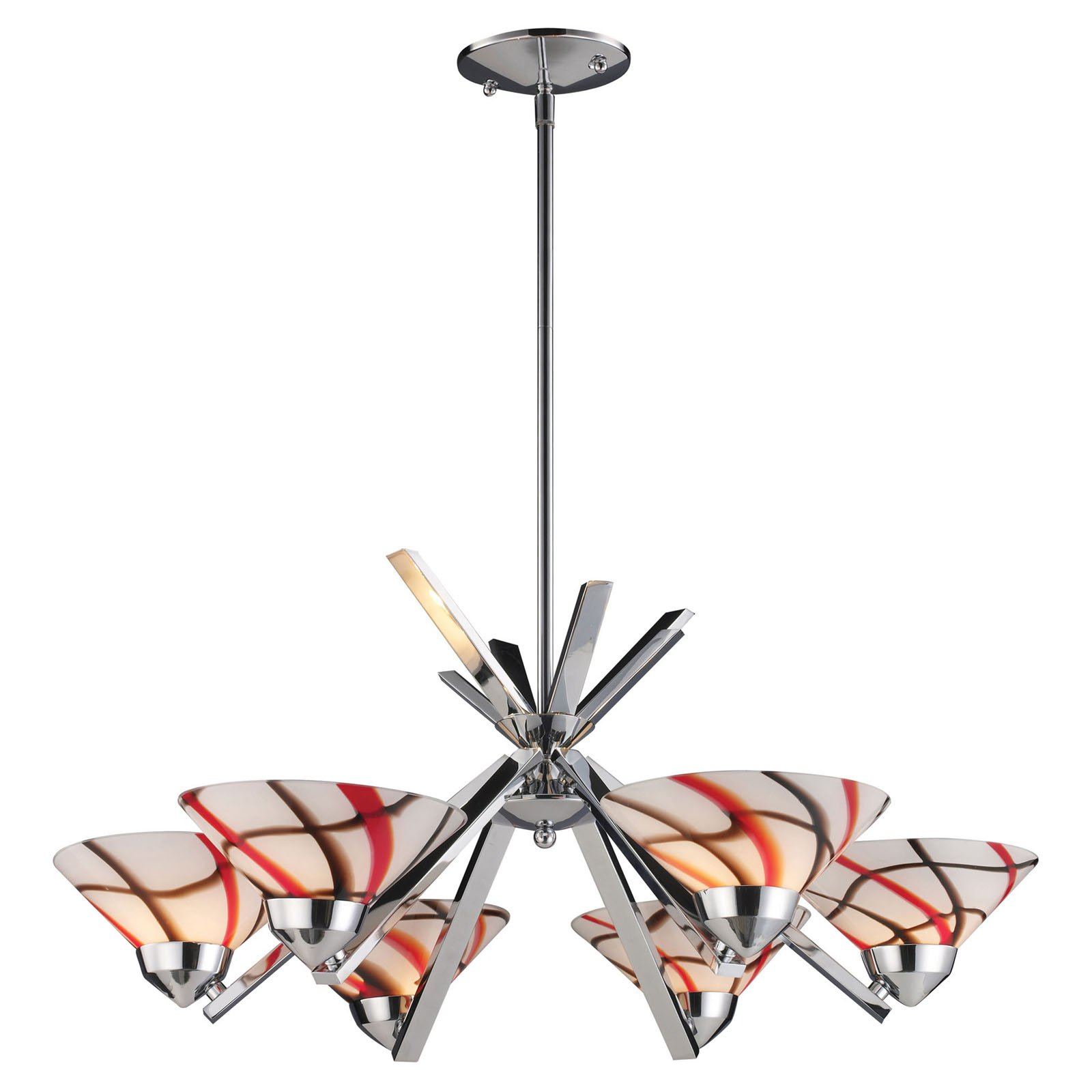 Elk Lighting Refraction 1475-6 Chandelier
