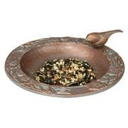 Whitehall Products 30058 Chickadee Garden Bird Feeder - Copper Verdi