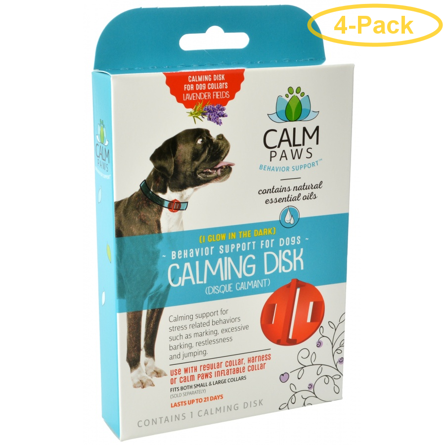 Calm Paws Calming Disk for Dog Collars 1 Count - Pack of 4