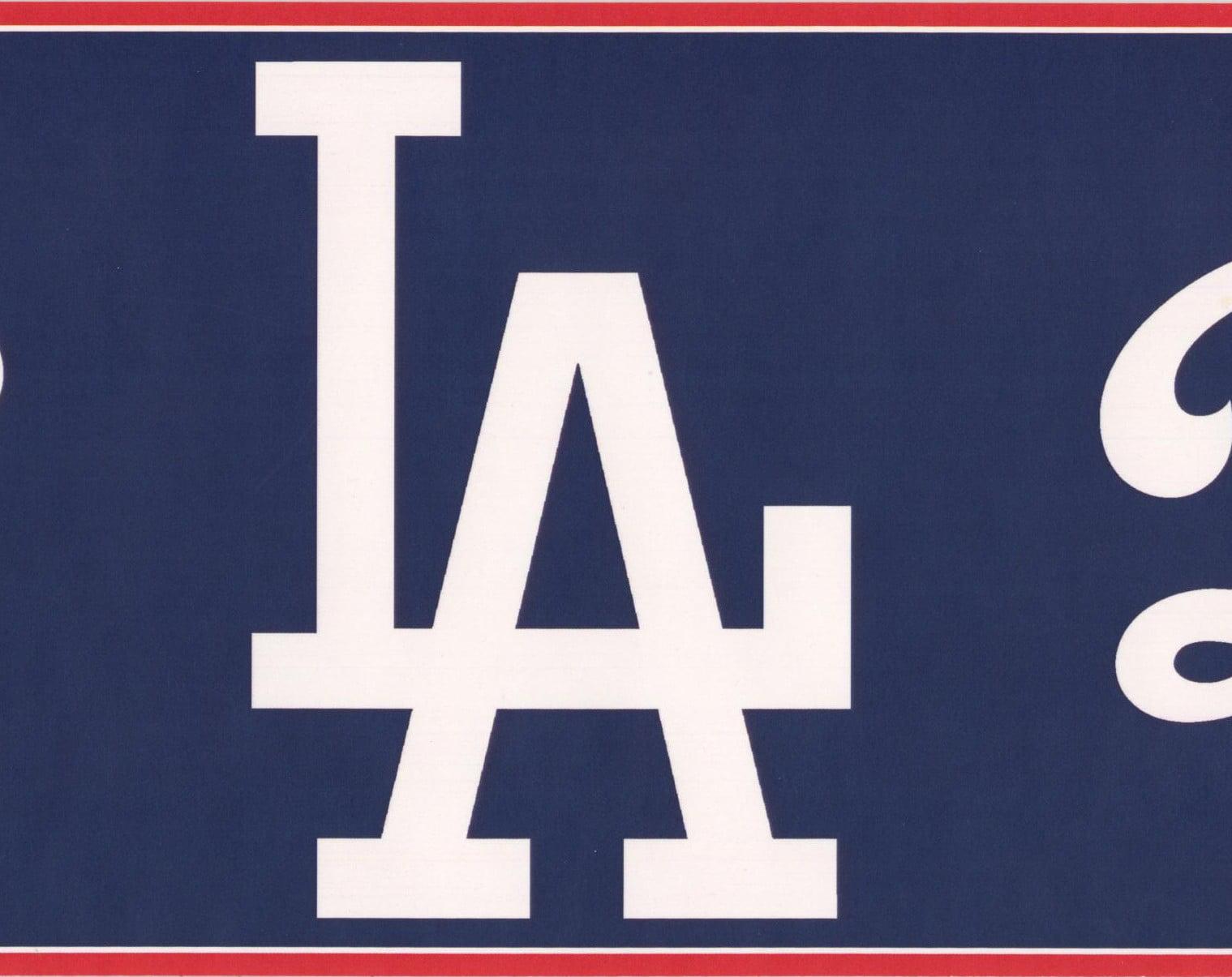 Los Angeles Dodgers Mlb Baseball Team Fan Sports Wallpaper Border