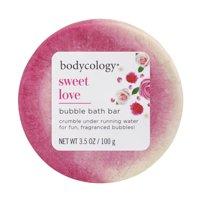 Bodycology Bubble Bath Bar, Sweet Love, 3.5 oz