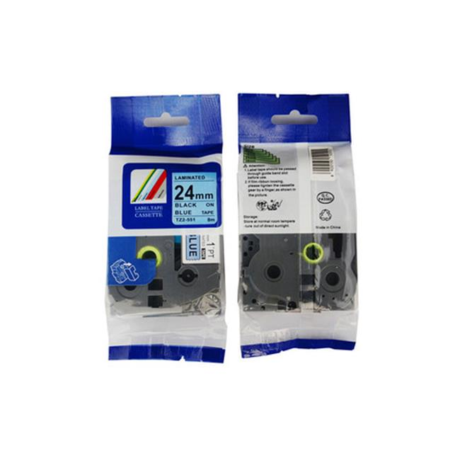 Nextpage TZE-551 Compatible Brother Laminated Cassette Tape Label  Black On Blue - Pack Of 3