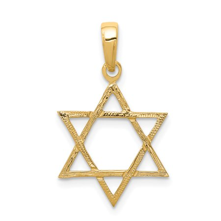 14k Yellow Gold Jewish Jewelry Star Of David Pendant Charm Necklace Religious Judaica For Women