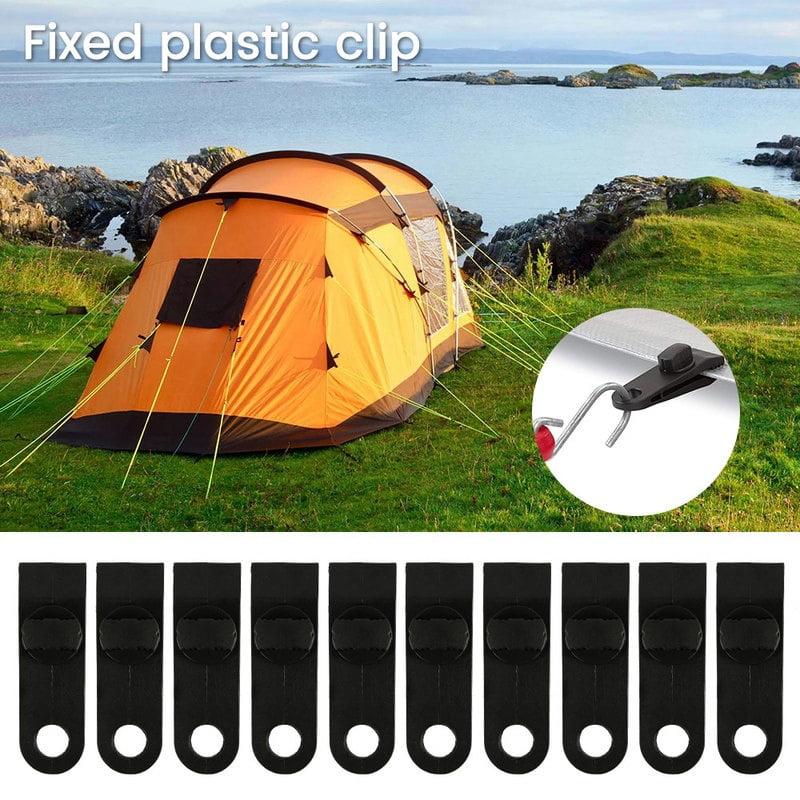 Tent Tarp Tarpaulin Clip Clamp Buckle Camping Tool Heavy Duty Reusable