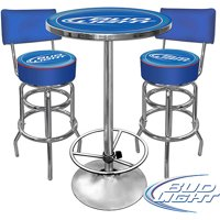 Trademark Bud Light Pub Table and 2 Stools With Back Set