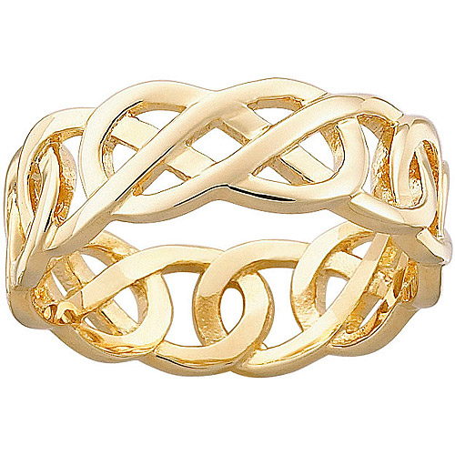 Celtic Knot Gold-Plated Wedding Band