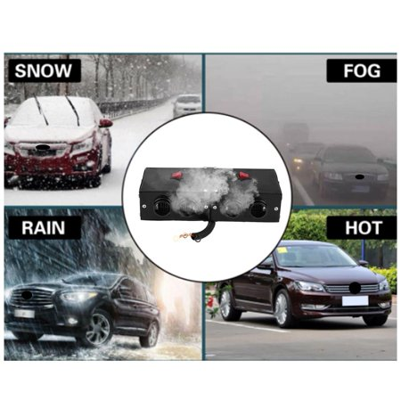 Hurrise 12v Car Portable Electric Window Heater Heating Dryer Windshield Fan Defroster Demister