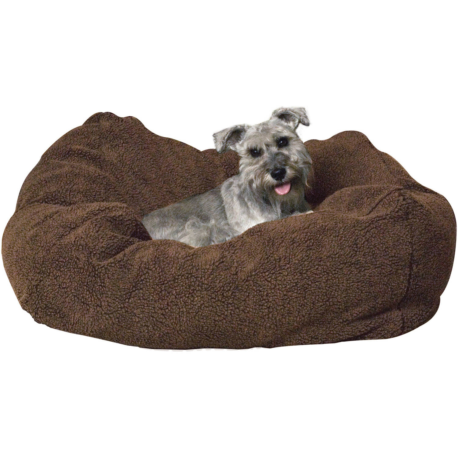 K&H Pet Products Cuddle Cube Dog Bed, Small, Mocha