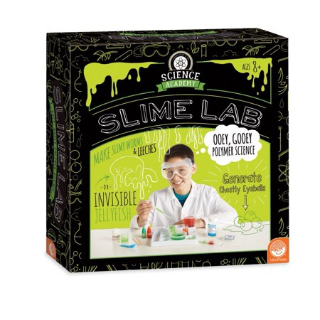 Science Academy: Slime Lab, Toys that teach: this kit from mindware makes it easy and safe to make a variety of disgusting slimes and learn.., By MindWare (Mindware Toys)