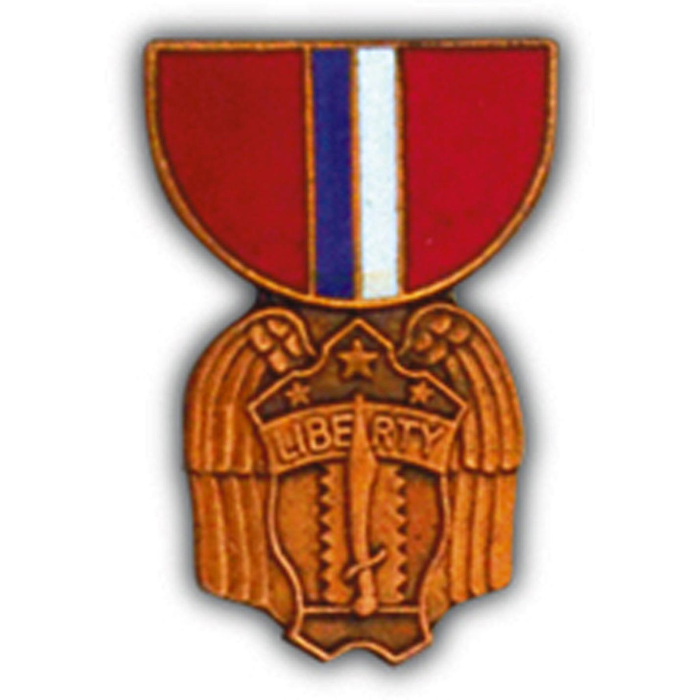 Philippine Liberation Medal Pin 1 3/16""
