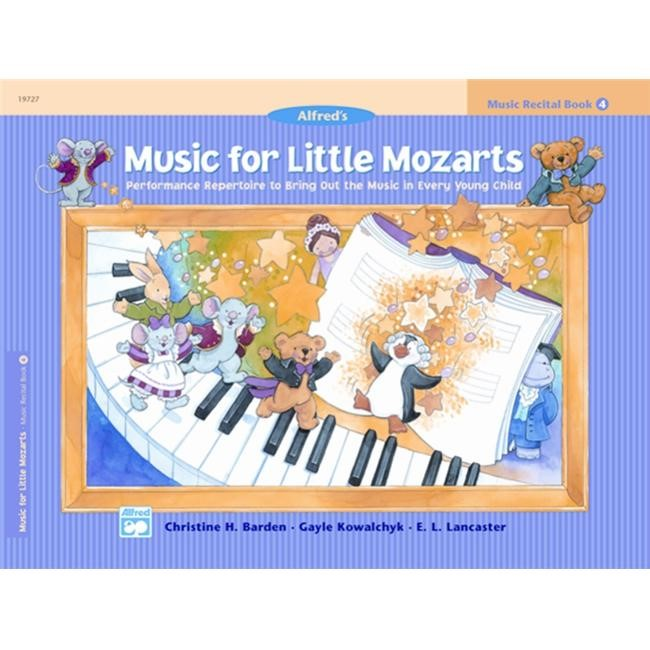 Alfred 00-19727 Music for Little Mozarts- Music Recital Book 4 - Music Book