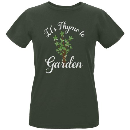 - Gardening It's Thyme Time to Garden Womens Organic T Shirt
