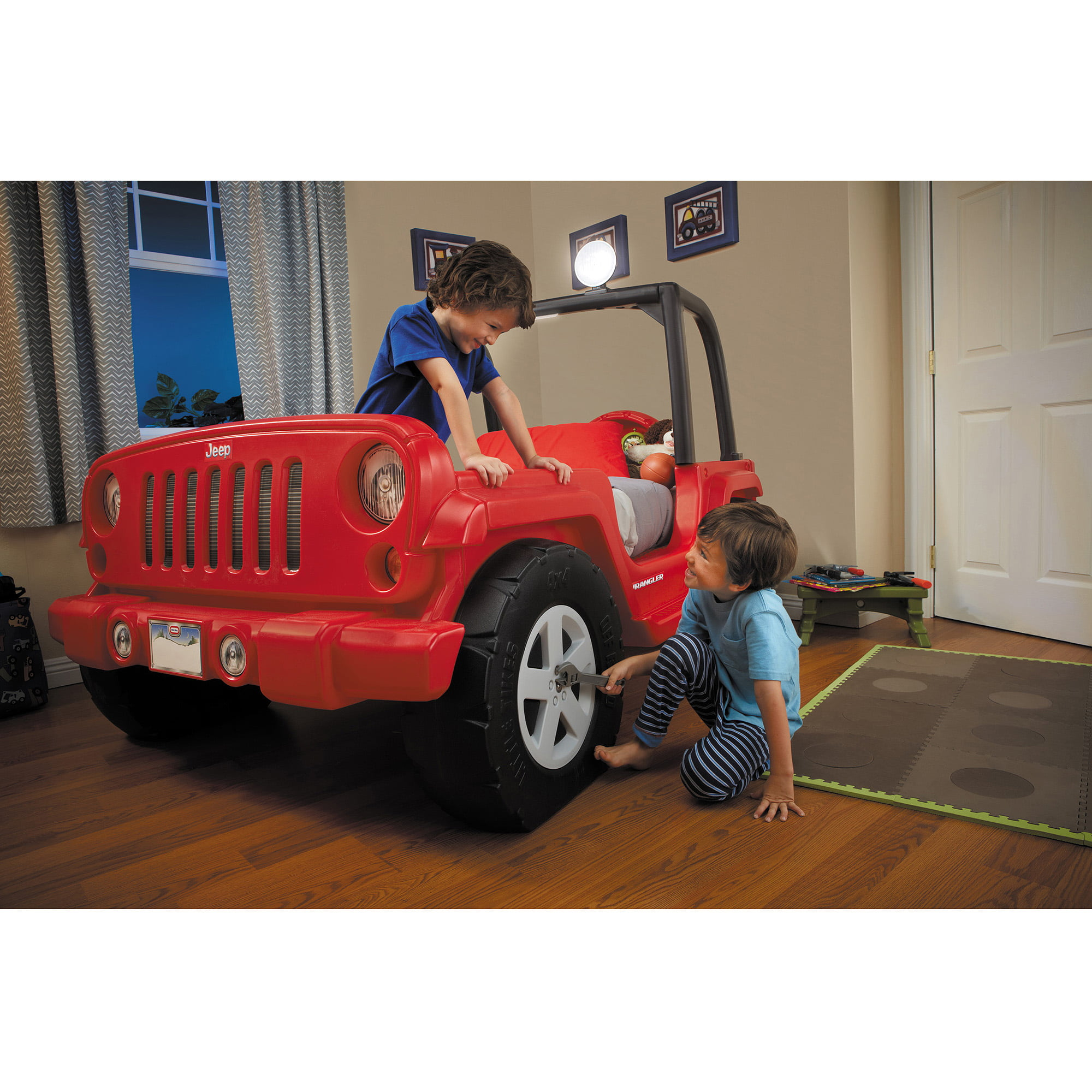 jeep toddler bed red walmartcom