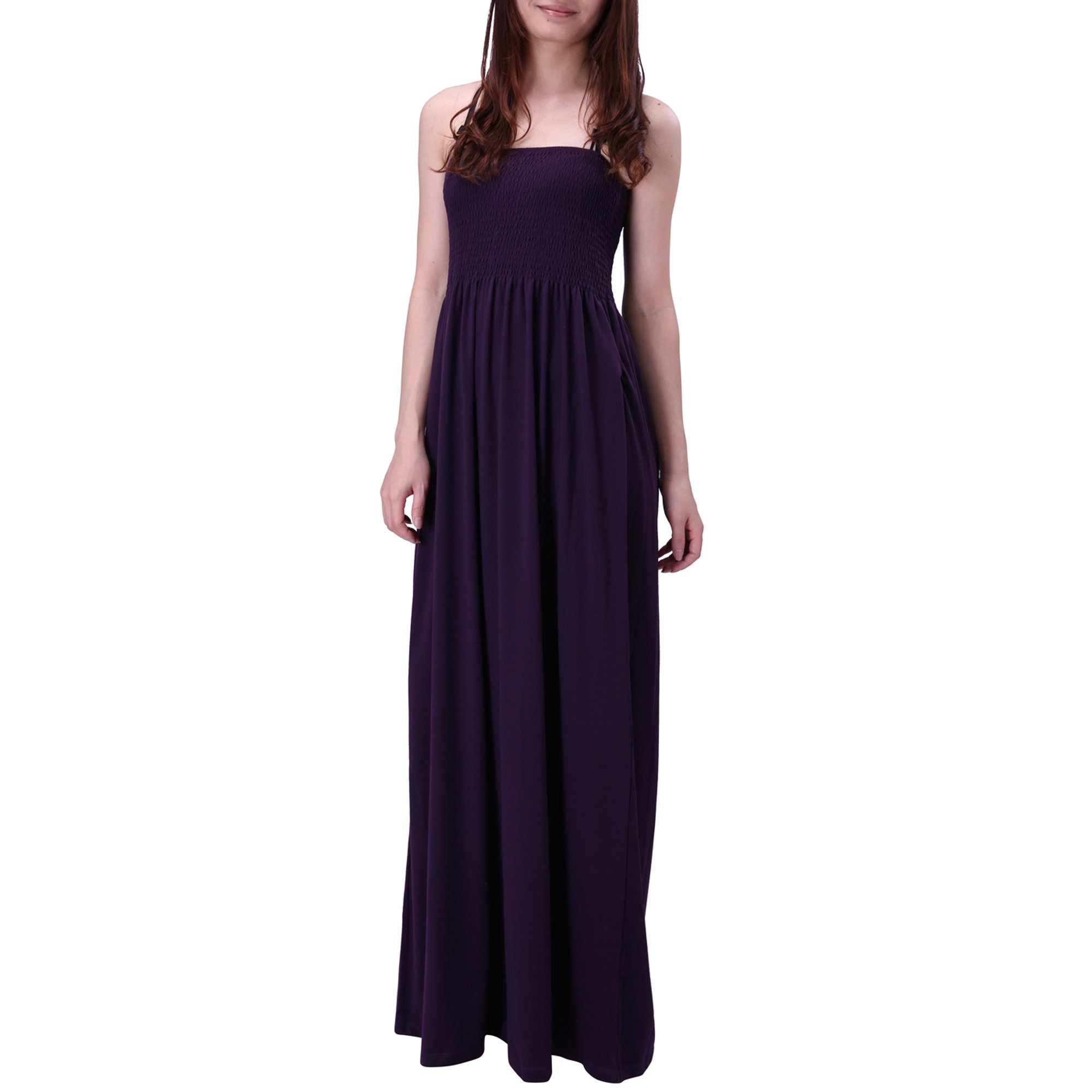 288c6fbcea HDE Women's Strapless Maxi Dress Plus Size Tube Top Long Skirt Sundress  Cover up (Blue Floral, Large)