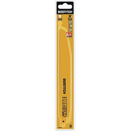 "Bostitch 9"" 10 Tpi Demo Recip Blade, 3-Pack, BSA4865M"