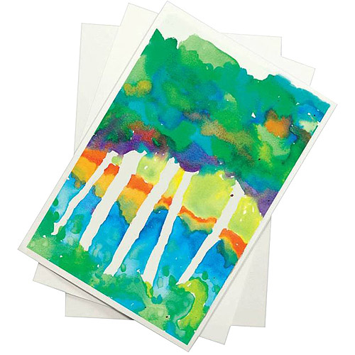 Sax 90 lb Watercolor Paper for Beginning Artists, White, Pack of 100 Sheets