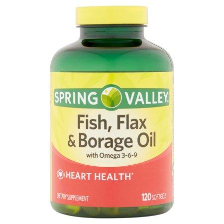 Upc 605388628077 Spring Valley Fish Flaxseed Borage