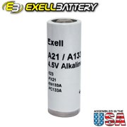 Exell EXELL-A21PX 4.5V Alkaline Industrial Battery for Garage Doors Cameras Radios