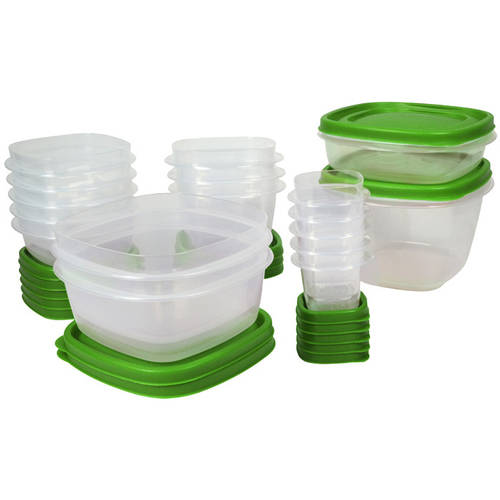Rubbermaid Food Storage Easy Find Lids, 30-Piece Set Plus 4, Multiple Colors