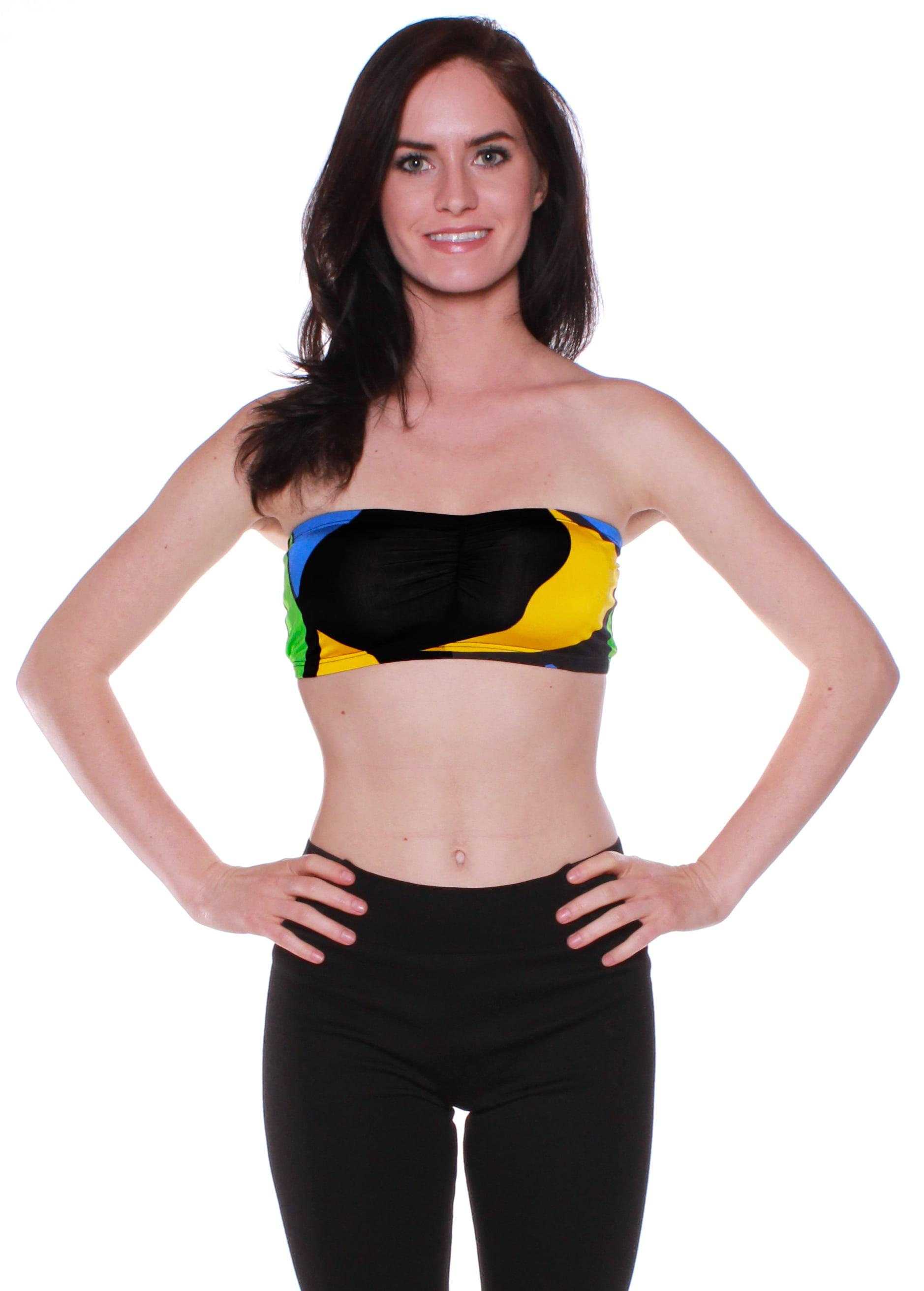 Emmalise Junior Women's Sexy Summer Pool Beach Printed Tube Top -
