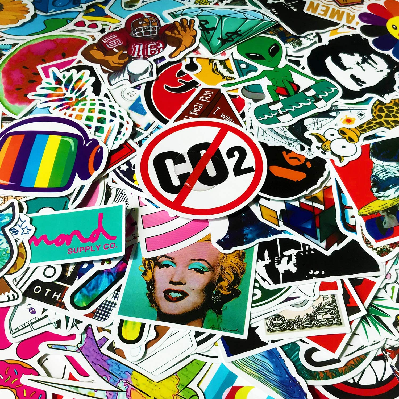 50pcs Pink Daddy Skateboard Stickers Vinyl Laptop Luggage Decals Random Graphics