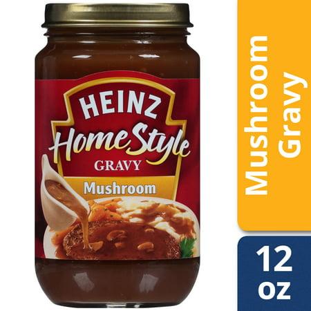 (2 Pack) Heinz Home-style Mushroom Gravy, 12 oz (Mushroom Gravy)