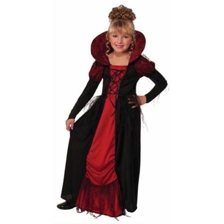 Vampire Vampiress Medieval Goth Gothic Queen Dress Child Girls Halloween Costume