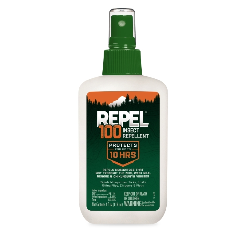 Repel 100 Insect Repellent Pump Spray Bottle, 4-Ounces