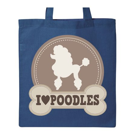 Poodle Dog Lover Gift Tote Bag Royal Blue One Size](Harajuku Lovers Tote)