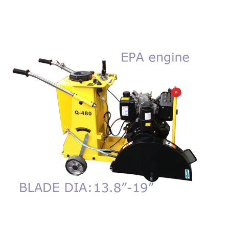 Walk Behind Concrete Saw 19'' Walkbehind Cement EPA Approved
