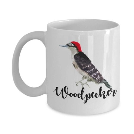 Paint Your Own Tea Cup (Woodpecker Bird Watercolor Paint Art Coffee & Tea Gift Mug, Décor, Ornaments, Products, Christmas Party Gifts, Birds Print Decoration & Accessories For Men & Women Birdwatchers Who Love)