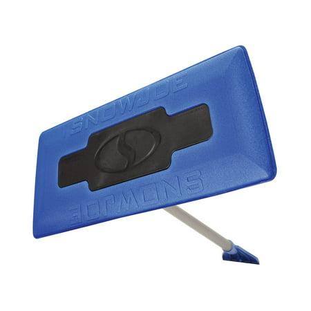 Image of Snow Joe SJBLZD 2-In-1 Telescoping Snow Broom + Ice Scraper 18-Inch Foam Head (Blue)
