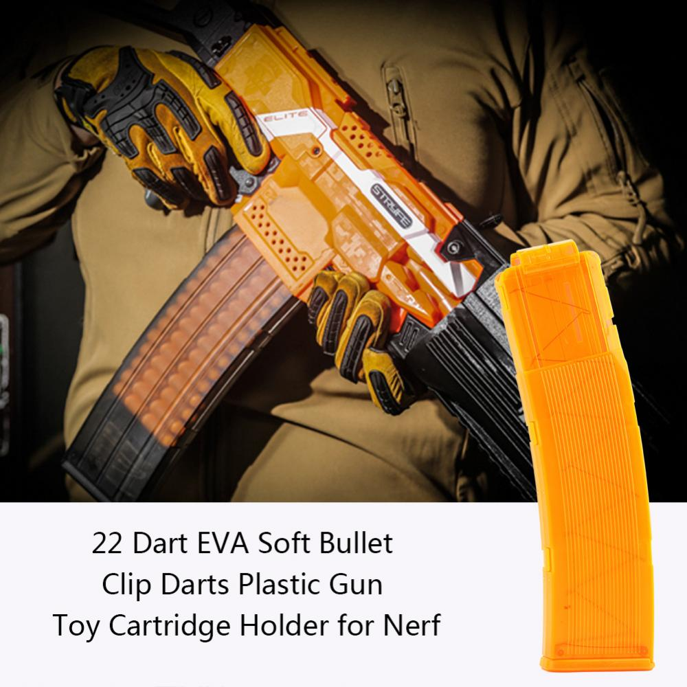 Zerone 22 Dart EVA Soft Bullet Clip Darts Plastic Gun Toy Cartridge Holder for Nerf, Bullet Clip,Foam Bullet Clip