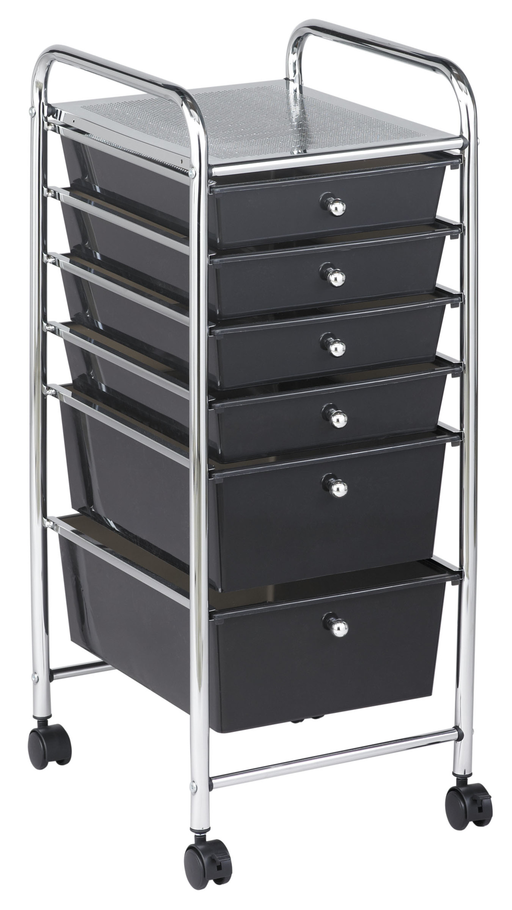 6 Drawer Mobile Organizer Grayscale by ECR4Kids