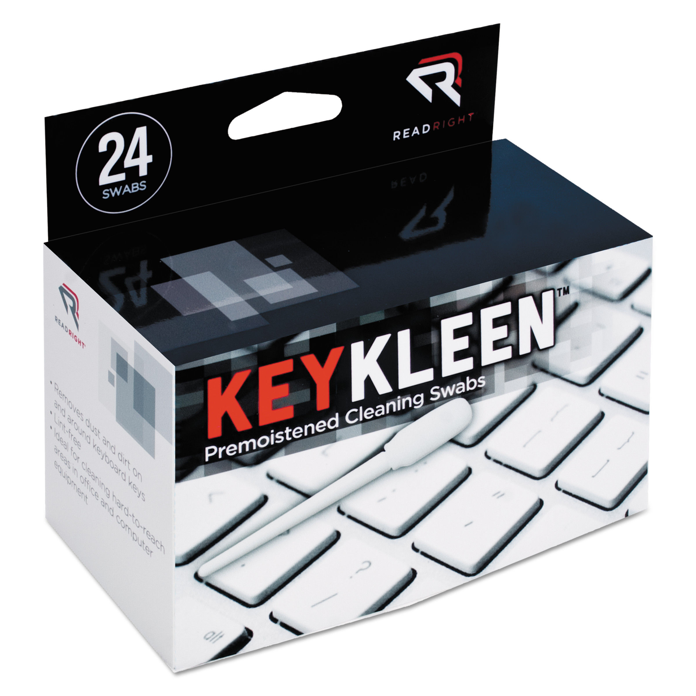 Read Right KeyKleen Premoistened Cleaning Swabs, 24/Box