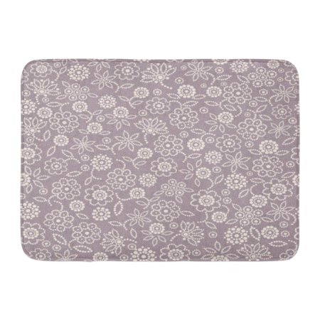 - GODPOK Composition Beige Abstraction Abstract Floral Pattern on Mauve Purple Circle Decorated Rug Doormat Bath Mat 23.6x15.7 inch