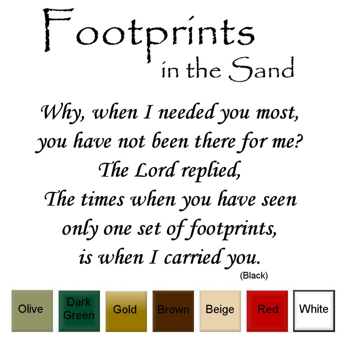 Decal the Walls Footprints in the Sand' Vinyl Wall Art Decal